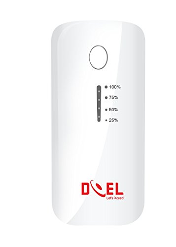 DOEL DI035 5200mAh Power Bank, 5200 mAh DOEL Premium Portable Phone Charger, Compact USB Power Banks with Smart LED Flashlight and Fast Charge for all iPhones, iPad, Samsung Galaxy, HTC, Smart Phones (White)  available at amazon for Rs.499