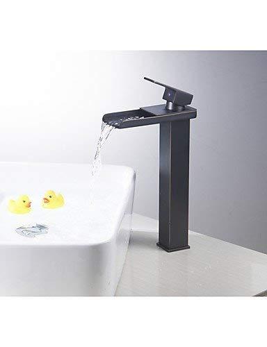 Wasserhahn Wasserfall Waschbecken Schiff Wasserhahn Toilette Mischbatterie Lange Wanneneinlauf Öl Eingerieben Bronze ORB