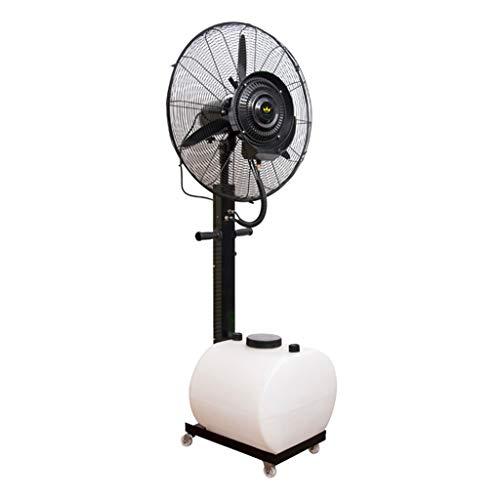 Ventilateurs tour Ventilateur brumisateur extérieur oscillant vertical - grand refroidisseur à jet d'air industriel Humidificateur industriel 3 réglages de vitesse Réservoir d'eau blanc Économiser l'é