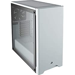 Corsair Carbide 275R Case da Gaming, Mid-Tower ATX in Vetro Temprato, Bianco