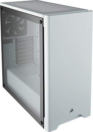 Corsair Carbide 275R - Caja de ordenador semitorre para juegos (Torre ATX mediana con ventana de vidrio templado), blanco