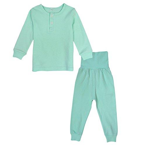 Kinder Pyjamas 100% Baumwolle Jungen Mädchen Plain Nachtwäsche Pjs einstellen (Pyjama-hosen Fleece Jungen)