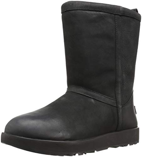 Ugg Australia Classic Short 1017509-BLK Leather Womens Boots - Black - 40