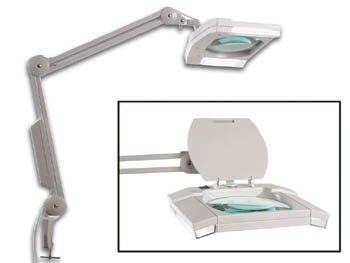 Veka-Lupenleuchte, für Büro, Basteltisch Neons Standspiegel mit 2 X 9W