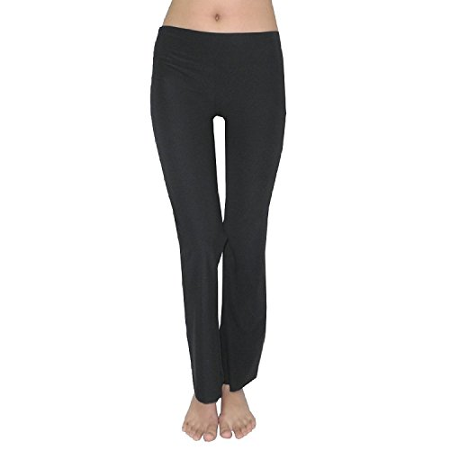 bally-total-fitness-womens-comfortable-casual-yoga-pants-l-black