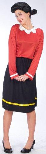 Olivia Öl Kostüm - M/L (Popeye Und Olive Oyl Kostüme Für Erwachsene)