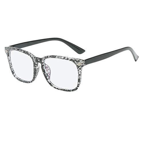 YULAND Unisex Retro Vintage Sonnenbrille Im Angesagte, Blaues Licht Das Gläser Quadrat Sonderlings Brillen Rahmen Gegen Blaue Ray Gläser Blockiert