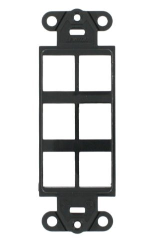 Leviton 41646-E QuickPort Decora Insert, 6-Port, Black by Leviton - Quickport Decora Insert
