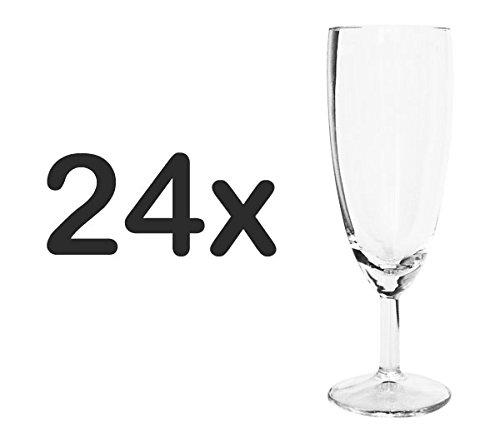 Sektgläser 24 St. Sektglas Champagner Glas 16cl klar 16x5cm