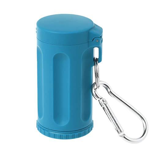 Lergo Tragbarer Mini Taschendeckel Aschenbecher Winddicht Schlüsselanhänger Outdoor Smoking Zubehör blau