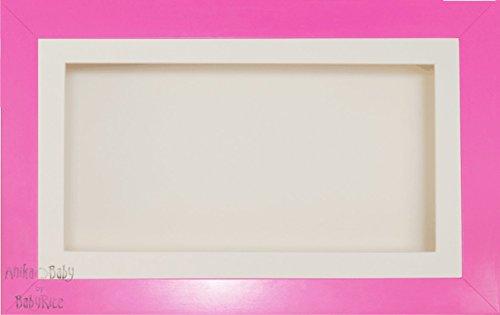 Anika 7 x 13/13 x 18 cm-Cadre en Bois-fille Rose/Passe-Partout crème/fond &Carte de verre 35,5 x 20,3 cm