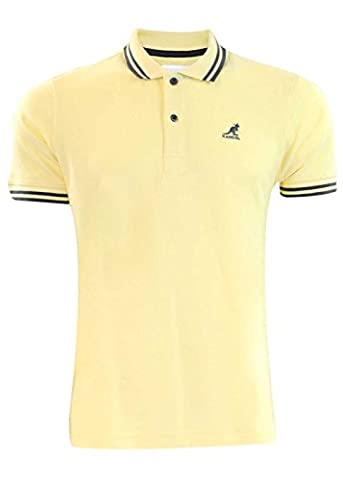 Men Kangol Joshua Polo T- Shirt Pale Yellow S