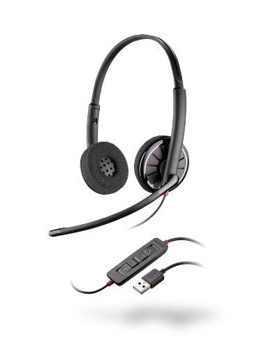 Plantronics Blackwire C320-M Foam Stereo Over-Ear Kopfhörer mit Mikrofon (USB)