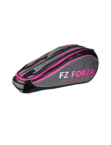 FZ Forza Schlägertasche Multithermobag Racketbag Harrison - Grau/Pink - für bis zu 6 Schläger - Geeignet für Badminton, Squash, Tennis, Speed Badminton etc.