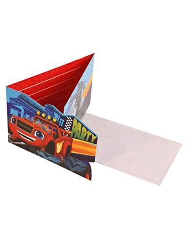 Generique - Einladungskarten Blaze und Monster Machines