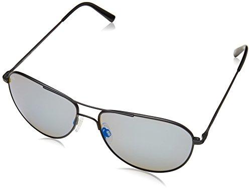 Serengeti Eyewear Erwachsene Alghero Sonnenbrille, Satin Black, Medium