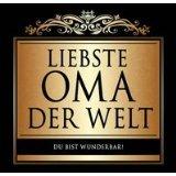 Udo Schmidt Aufkleber Flaschenetikett Etikett Liebste Oma der Welt schwarz gold elegant