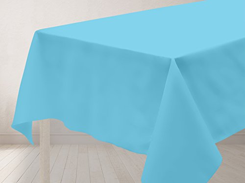 Soleil d'Ocre Nappe antitaches rectangle 140x300 cm ALIX turquoise
