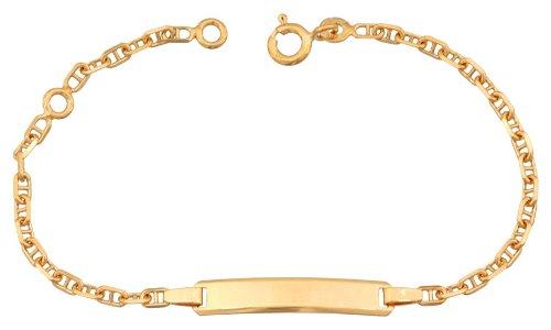 Orleo - REF1845BB : Bracelet identité Enfant Or 9K jaune