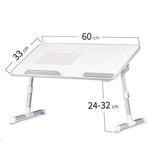 TYZXR scrivania Regolabile per Computer, Tavolo da Gioco Pieghevole per scrivania con Ventilatore radiatore tavolino dormitorio Multifunzione può Essere ruotato (Colore: A)