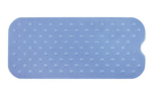 Spirella 10.16770 Duschmatte Anti Rutsch Matte Circola antibakteriell rutschfest waschbar 90x40cm Naturkautschuk PVC Frei Blau