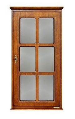Hängevitrine Tür mit Gitter