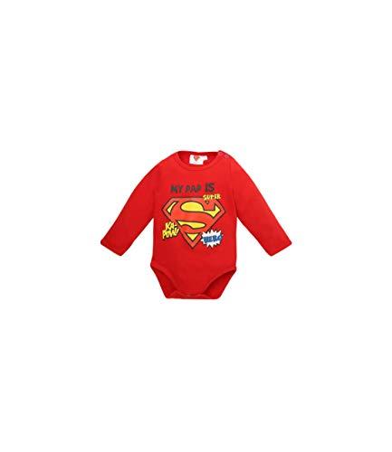 Superman Baby-Jungen Body 2538, Rot Rouge, 0-6 (Herstellergröße: -