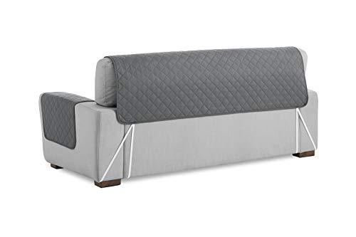 textil-home Salvadivano Trapuntato Copridivano Malu 2 posti Reversibile. Colore Grey