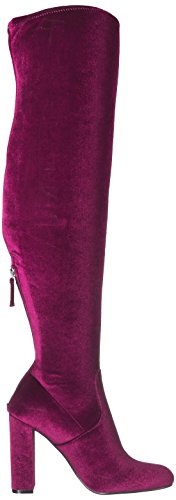 Steve Madden Emotion, Bottes Classiques Femme Rouge (Velvet Burgundy)