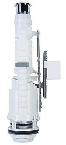 Siamp Monaco 32456010 Skipper 45 Valve de chasse d'eau double avec bouton poussoir chromé