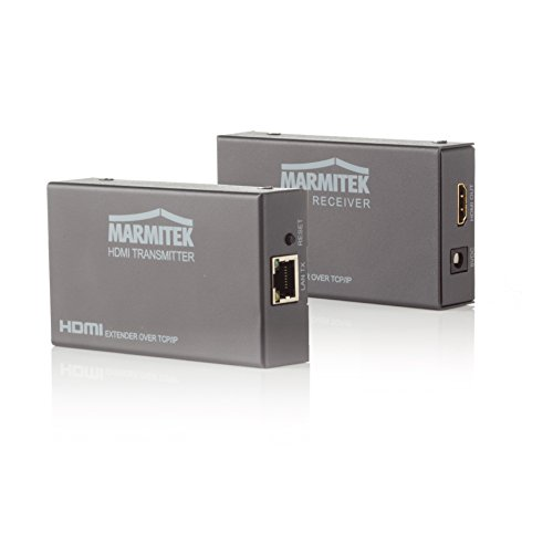 Marmitek MegaView 90 - HDMI Extender - über 1 CAT 5e/6 Kabel oder Netzwerk (IP/LAN) - Full HD - 1080P - 120m - zusätzliche Empfänger möglich - HDMI Extender über vorhandenes Netzwerk - Netzwerk-kabel-extender