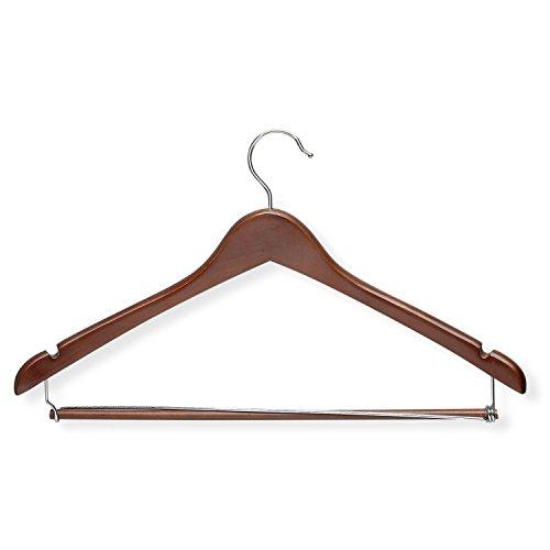 Konturierte Kleiderbügel (Honey can do Konturierte Suit Hanger mit Sperren Bar, Cherry, 30 Pack)