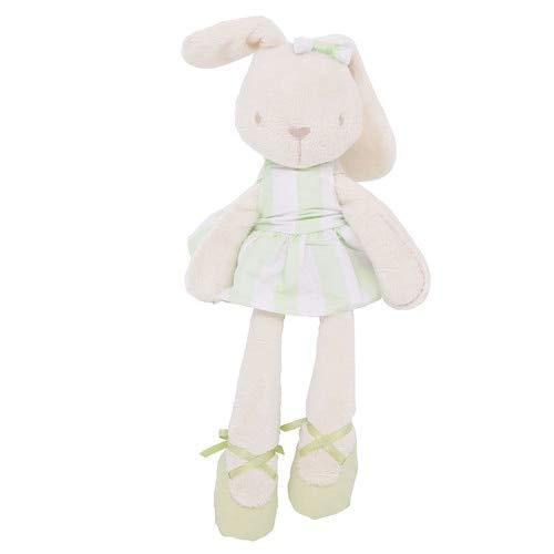 YOUHA Niedliche 45cm große weiche Kuscheltier Hase Spielzeug Baby Kind Mädchen Schlafen Stofftiere Haustiere Hellgrün (Kissen Haustiere Traktor)