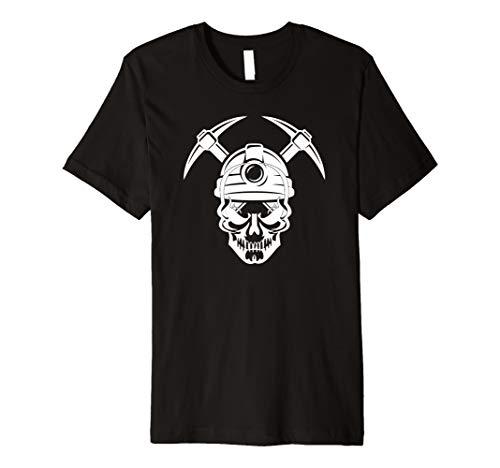 Kohlebergmann Schädel T-Shirt Kohle Bergmann Kostüm ()