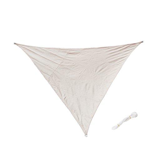 Sharplace Voile d'Ombrage Imperméable Auvent de Triangle Lavable Résistant Soleil Durable - Beige, 3m