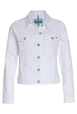 COOL CODE Weiße Jeansjacke - Damen Jacke,Jeans-Jacke,Übergangs-Jacke,langarm,Sommer weiß,38