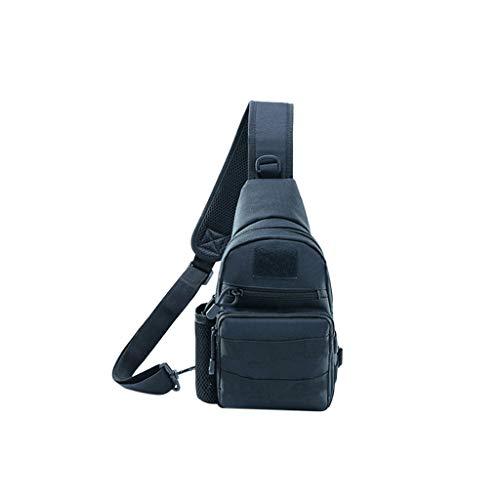 XNBZW Herren Outdoor Reisetasche Brusttasche Freizeittasche Reisetasche Reiten Rucksack Umhängetasche Messenger Sportliche Handtasche/Schultertasche/Umhängetasche aus Nylon