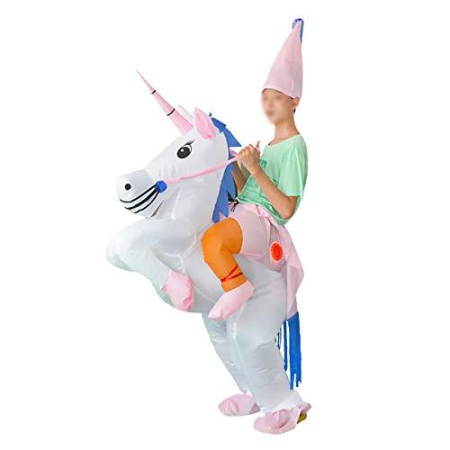 ShiyiUP Disfraces Inflable de Unicornio Traje Hinchable para Halloween Niños