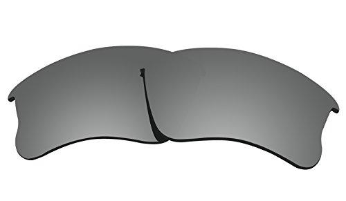 COLOR STAY LENSES Polarisierte Ersatzgläser für Oakley Flak Jacket XLJ/Flak Jacket XLJ (Asia Fit), Herren, Titanium Mirror