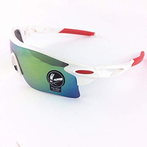 Yiph-Sunglass Sonnenbrillen Mode UV-Schutzbrille zum Reiten Fahren Angeln Golf Polarisierte Outdoor-Sportarten Radfahren Brillen Radfahren Sonnenbrillen (Farbe : White)