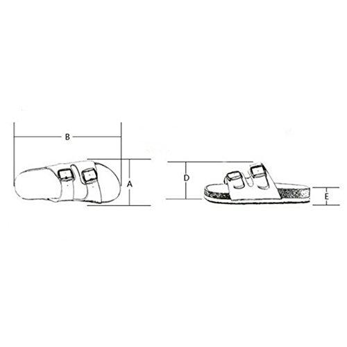 ZHANGRONG- Chaussons Lovers Sandales Cork pantoufles hommes et femmes anti-dérapant chaussures de plage respirant ( Couleur : B , taille : 41 ) C