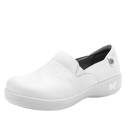 Alegria Womens Keli Professional Shoe White Tooled