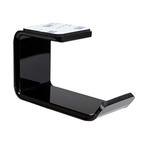 TOPBATHY Acryl Kopfhörer Ständer Headset Halter Wand Desktop Headset Rack L-förmige Halterung Kopfhörer Zubehör mit doppelseitigem Klebeband (schwarz) - Desktop-headset
