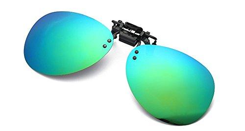DAUCO One-Piece Sonnenbrillen-Clip Polarisierende Flip Up,UV 400 Sonnenbrille Brillen Aufsatz Clipon Clip On's Brille Sonnenbrillen,Sonnenbrillen-Clip für Brillenträger