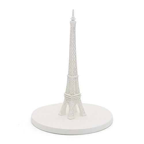 Weiße Rustikale Esstisch (Dfghbn Freistehende Eiffelturm Papierhandtuchhalter - Vintage rustikale ländliche vertikale Papierhandtuchhalter für Küche Esszimmer Esstisch Hotel Tissue Holder Arbeitsplatte (Farbe : Weiß))