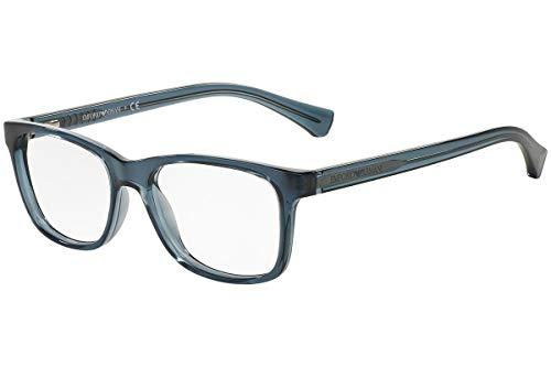 Emporio Armani unisex-adult EA 3064 Brillen 52-16-140 5373 EA3064 transparent Blau groß