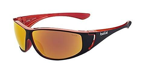 Bolle Highwood Sunglasses - Shiny Black/Red, Medium/Large