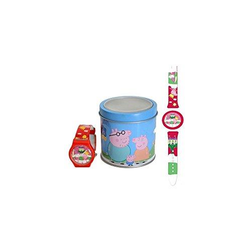 Kinderuhr Peppa Wutz + Aufbewahrungsdose / Uhrenbox - Uhr Kinder Armbanduhr - für Jungen Mädchen - Quarz Analog Lernuhr - Quarzuhr / Box Dose - Kinder-Armbanduhr 13/5000 1 von 3 Designs Peppa Pig