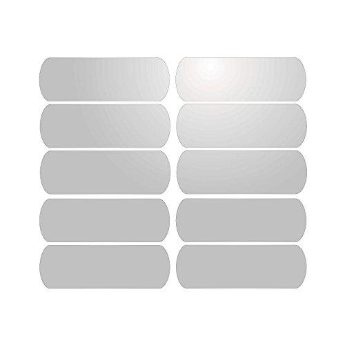 Mygoodprice 10Strisce adesive Riflettenti per segnaletica di caschi (6x 2cm) Bianco Riflettent