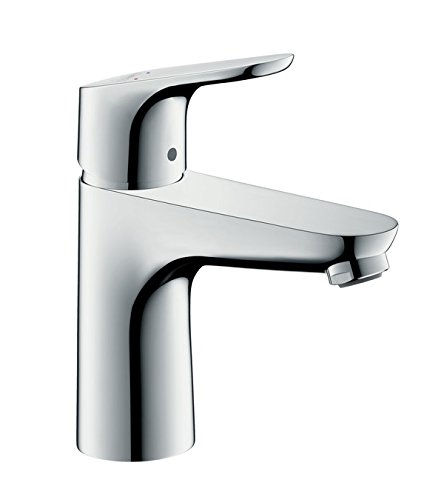 Hansgrohe - Waschtisch-Einhebelmischer, Ablaufgarnitur, Temperaturbegrenzer, Chrom, Serie Focus 100